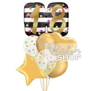 Chrome gold baloni za 18. rodjendan