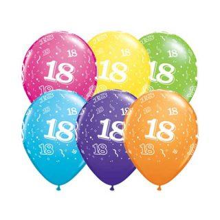 Osamnaesti rođendan gumeni baloni šareni
