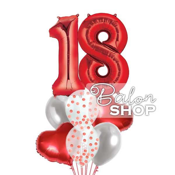 18 rodjendan crveni buket