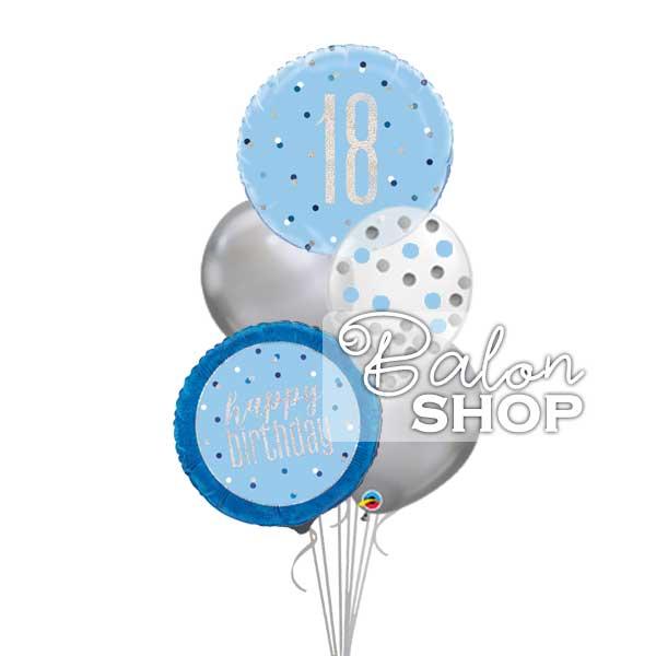 18 rodjendan plavo srebrni