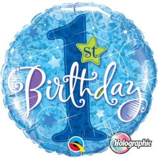 Elegantan plavi balon za prvi rođendan