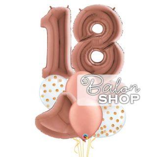 Rose gold buket za 18 rodjendan