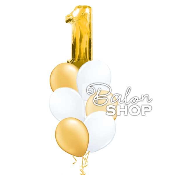 srebrni ili zlatni buket za 1 rodjendan