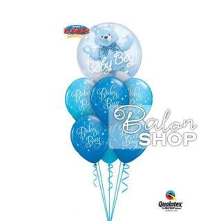 Buket balona Baby Boy sa medom