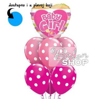 Buket balona Baby Girl Tufnice