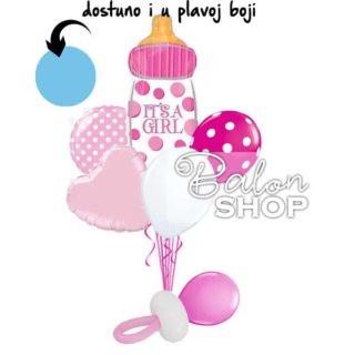 Buket balona Flašica