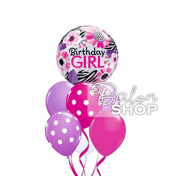 birthday girl buket balona