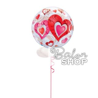I love you bubble balon u buketu