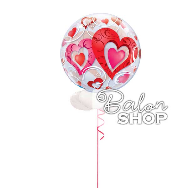 bubble balon i love you