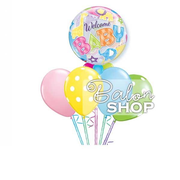 buket balona welcome baby
