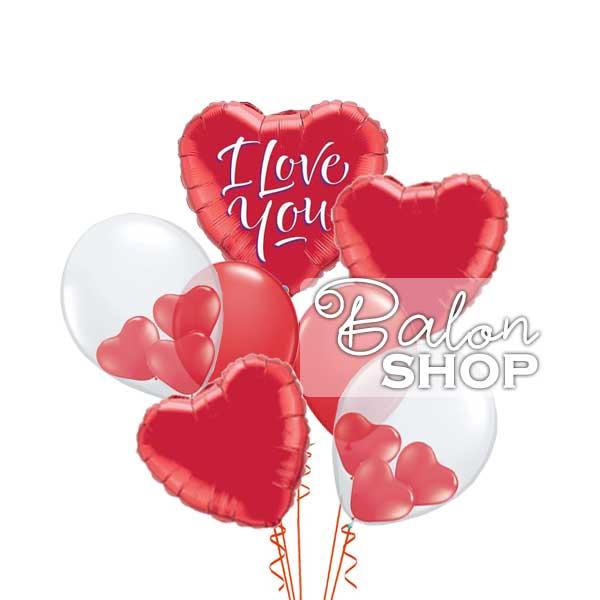ljubav u balonima buket