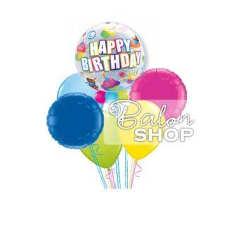 Buket balona Happy Birthday