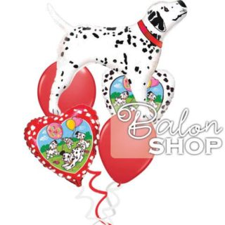 Dalmatinac buket balona Happy Birthday