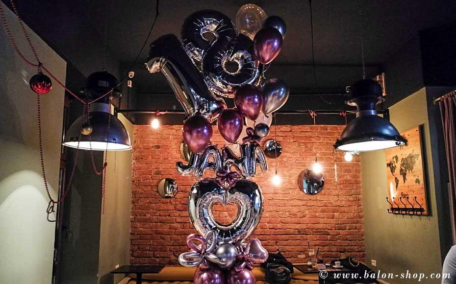 dekoracija balonima kompozicija