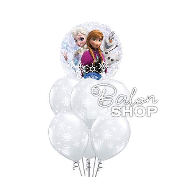 frozen pahuljice buket balona
