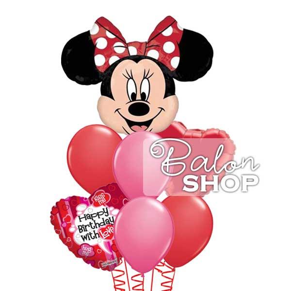 mini happy birthday buket balona with love