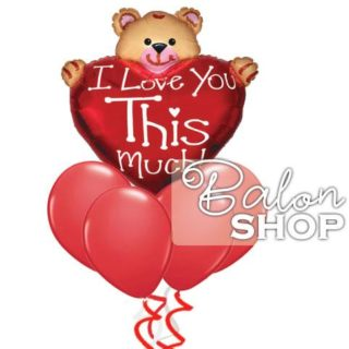 I love you this much buket balona