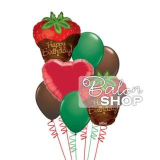 Jagode u čokoladi Happy Birthday buket balona