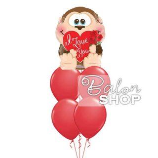Moje majmunče I Love you buket balona