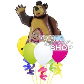 Maša i meda buket balona