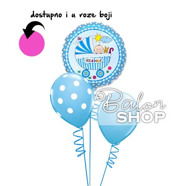 mini buket balona za rodjenje