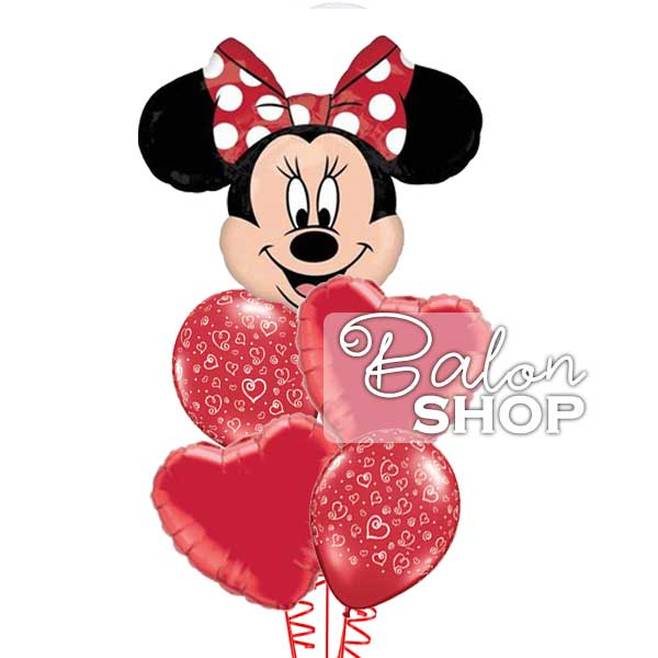 minnie buket balona