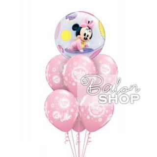 Buket balona Mini Maus za rođenje bebe