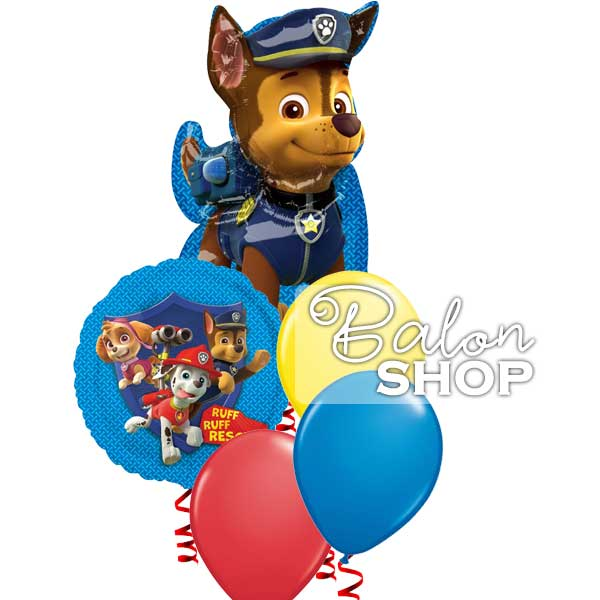 paw patrol buket balona