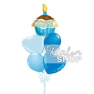 Plavi rođendanski buket od balona