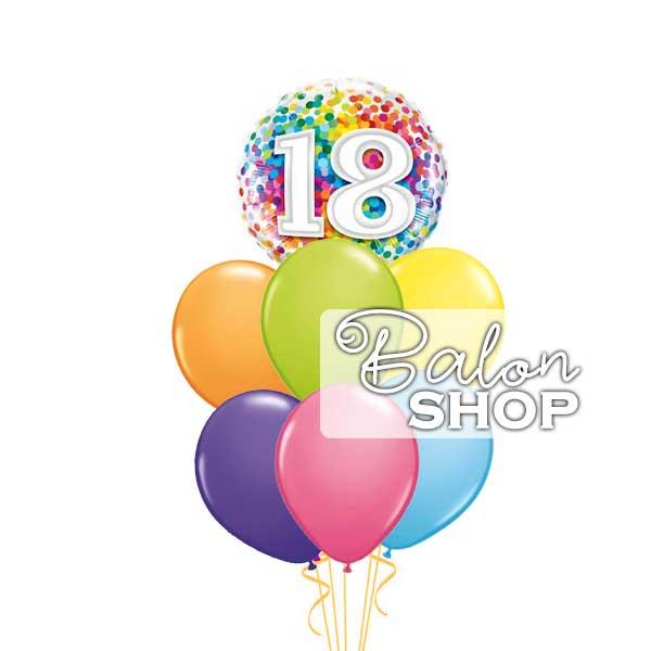 Sareni buket za 18ti rodjendan
