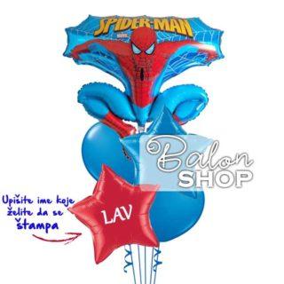 Spiderman buket sa imenom