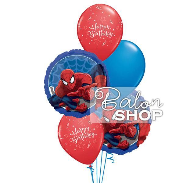 spiderman happy birthday buket