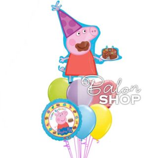 Veliki rođendanski Pepa prase buket balona