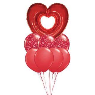 Volim te buket balona