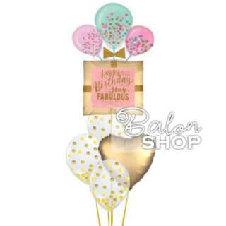 Fabulous gold rođedanski baloni u buketu
