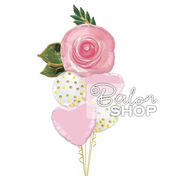 flowers buket balona sa srcima