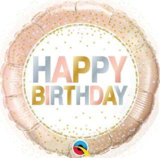 Gold rose Happy Birthday elegantan balon
