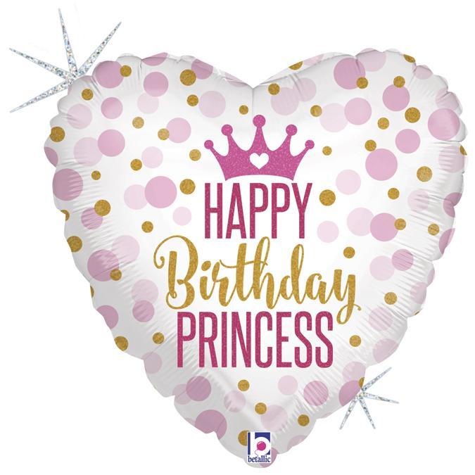 Glitter birthday princess