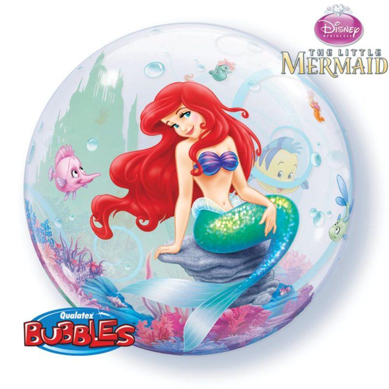 mala sirena bubble balon