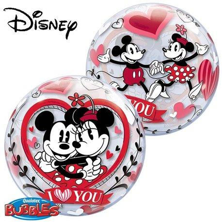 mickey and minnie bubble balon