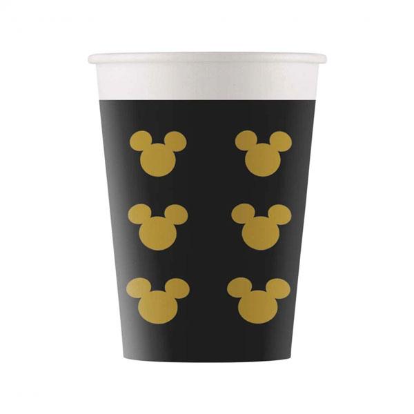 miki mini maus crno zlatne čaše