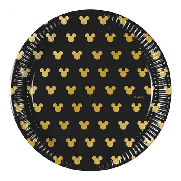 miki mini maus crno zlatni tanjiri