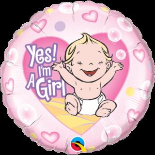 Yes! I'm a Gril beba u srcu balon