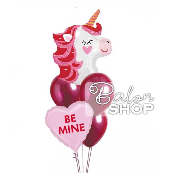 zaljubljeni jednorog buket helijumskih balona