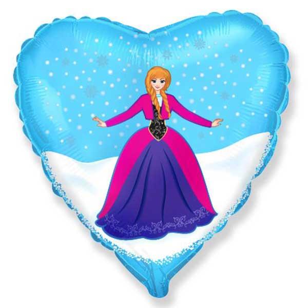 ana frozen srce balon