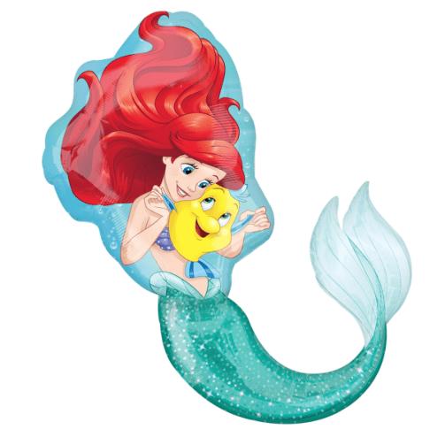 ariel little mermaid balon