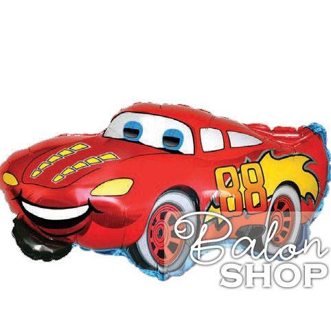 automobil crveni folija balon