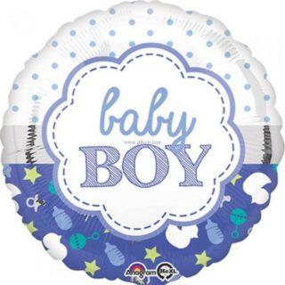 Baby Boy balon sa tufnama, zvečkom i flašicama