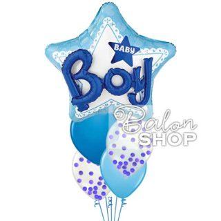 Baby Boy 3D helijumski baloni u buketu