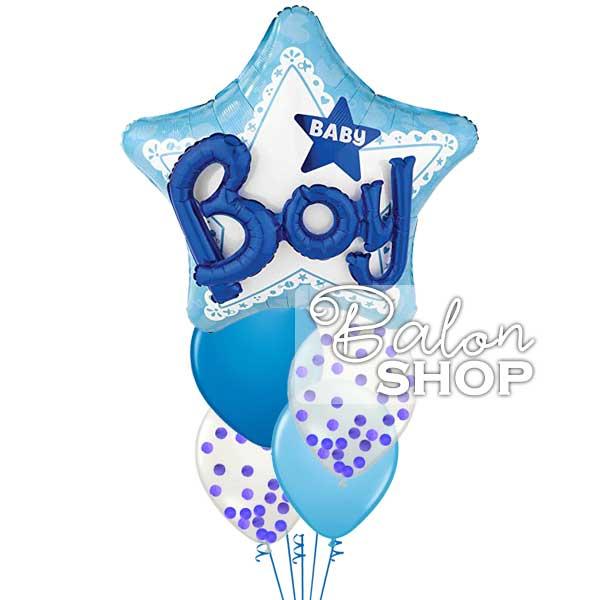 baby boy 3d buket balona